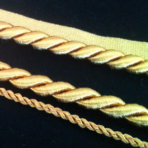 Gold Lanyard 7mm with rim