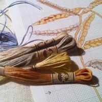 Lingarns mouliné 12 dockor med 10 mönster!